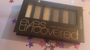 Collection Eyes Uncovered Palette in Nude Bronze. Doesn't last all that well, but lots of lovely muted colours.