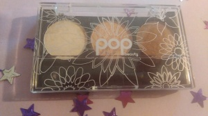 Pop Beauty Eyeshadow Palette in Peach Parfait. Dense coverage and lasts well all day.