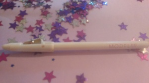Model Co lipliner in nude.  This is great as the lid is a sharpener too.