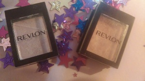 Revlon eyeshadows in Pearl, a beautiful lilac shade, and a lovely pale pink.